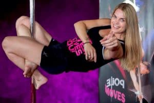 Instructrice Mandy-lee Sjollema Pole Moves